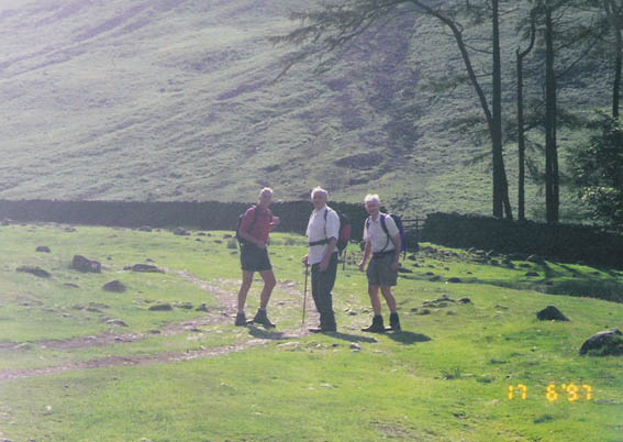 Peter, John and Allan (on what looks like the path from Burnthwaite up to Styhead)