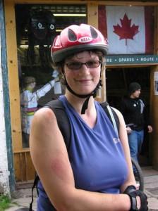 Biking at Mabie Forrest