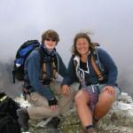 Lorraine and Rachel - Via Ferrata Dolomites - August 2005