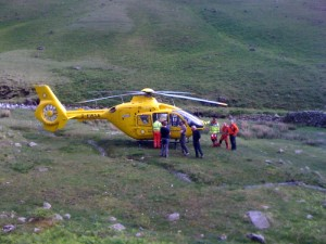 The Air Ambulance at Gavel Neese