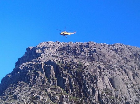 Broad Crag - Helicopter Winching
