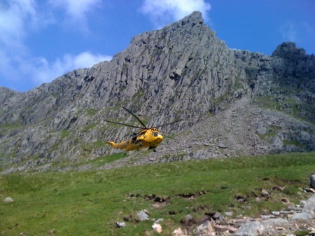 Rescue 131 under Pike's Crag