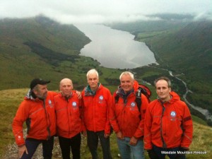 Team Members on Lingmell Nose