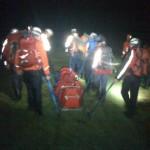 Nearly back, sledging to Burnthwaite