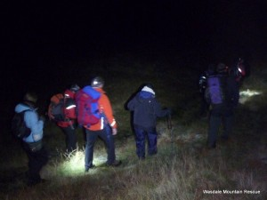 The casualty party walking down from Upper Eskdale