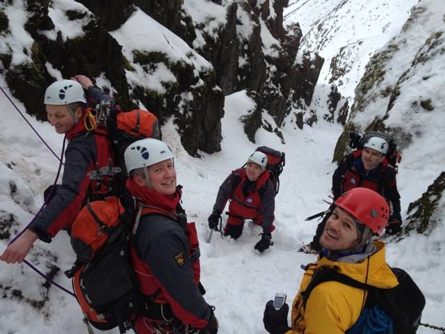 A happy group at the top of Lord's Rake