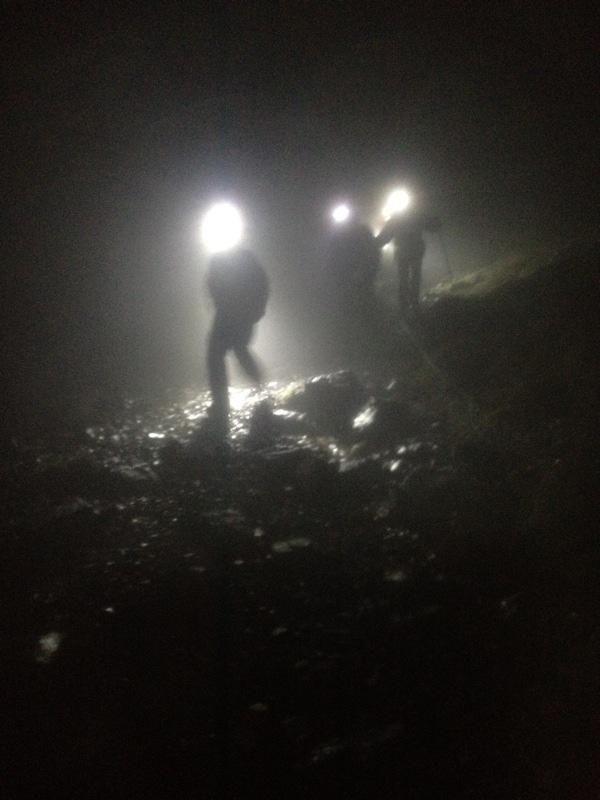 Descending from Beck Head