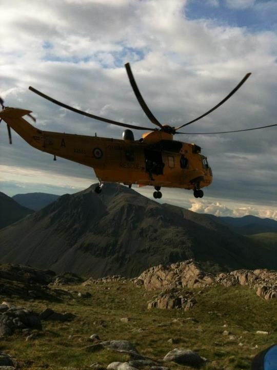 The Sea King from RAF Boulmer