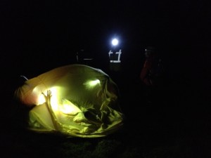 The casualty is treated inside a bivi tent