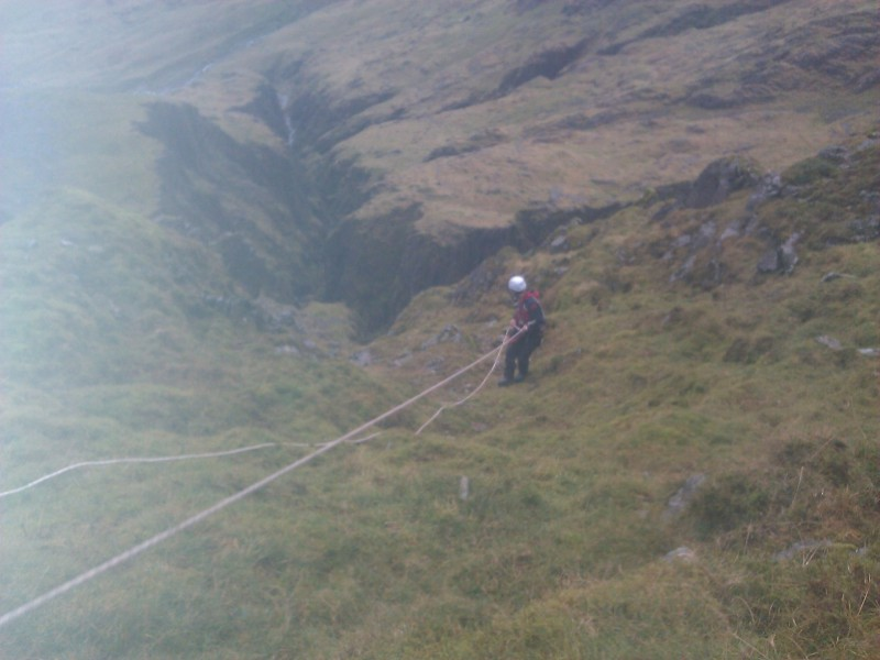 Collecting he rope that was left behind the following weekend