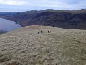 Descending towards Lingmell Nose