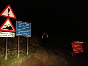 The signs below Hardknott Pass on the Eskdale Side