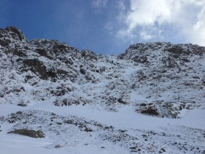 Ice forming in the Red Gill Area on Scafell