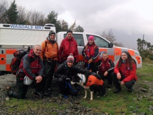 Adam, Jasper and the team members who went to help Jasper down