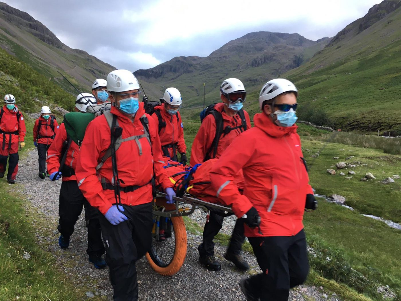 Styhead Path PPE stretcher wheel